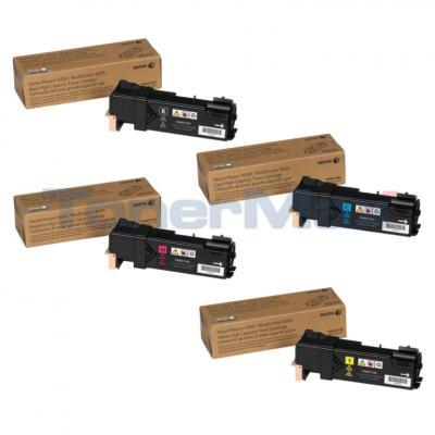 XEROX PHASER 6500 TONER CARTRIDGE HY BUNDLE (BLACK, CYAN, MAGENTA, YELLOW)